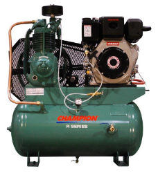 9.1 HP Yanmar Tank Mounted Diesel Driven Champion Air Compressor (SKU: HDR5-3Y)