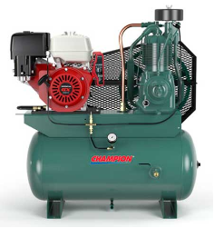 13 HP Honda 30 Gallon Tank Gas Driven Champion Air Compressor (SKU: HGR7-3H)