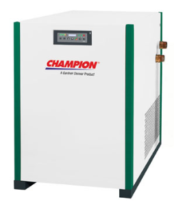 10 CFM / 3 HP Air Compressor Champion Refrigerated Air Dryer