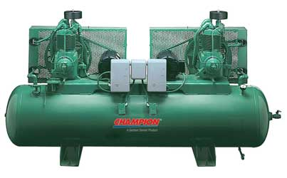 champion air compressor logo. 5 hp 120 gallon horizontal duplex champion air compressors fully packaged compressor logo
