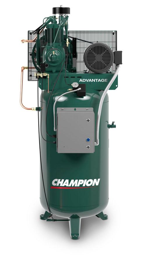 7 5 hp 80 gallon air compressor champion vr7f 8 for 7 5 hp air compressor motor