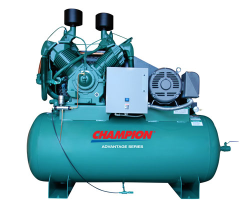 HRA25-12 Champion 25 HP 120 Gallon Horizontal Advantage Series Air Compressor Fully Packaged (SKU: HRA25-12)