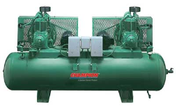 5 HP 120 Gallon Horizontal Duplex Champion Air Compressors Fully Packaged
