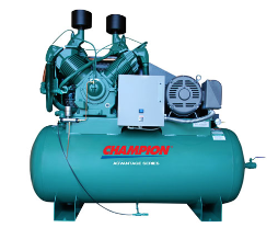 HRA25-12 Champion 25 HP 120 Gallon Horizontal Advantage Series Air Compressor Fully Packaged