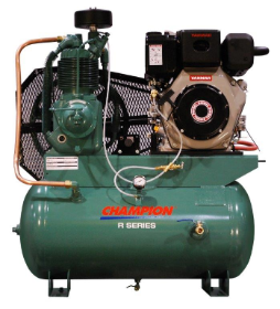 9.1 HP Yanmar Tank Mounted Diesel Driven Champion Air Compressor