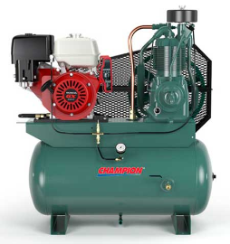 13 HP Honda 30 Gallon Tank Gas Driven Champion Air Compressor