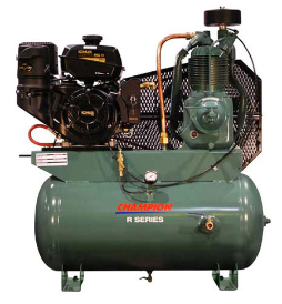 14 HP Kohler 30 Gallon Tank Gas Driven Champion Air Compressor