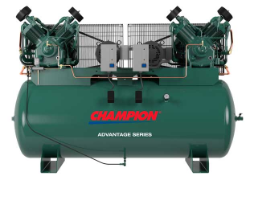 10 HP 250 Gallon Duplex Advantage Champion Air Compressors Fully Packaged