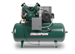 HR10-12 Champion 10 HP 120 Gallon Horizontal Advantage Series Air Compressor Fully Packaged