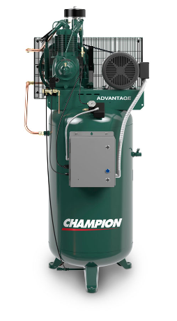 VR7F-8 Champion  7.5 HP 80 Gallon Vertical Advantage Series Air Compressor Fully Packaged