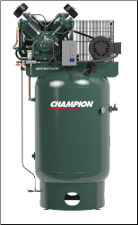 VR10-12 Champion 10 HP 120 Gallon Vertical  Advantage Series Air Compressor Fully Packaged