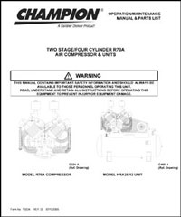 Champion Air Compressor Manuals